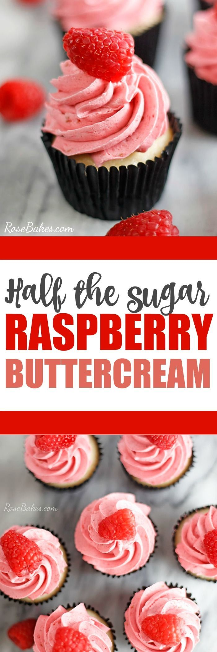 half the sugar raspberry buttercream #buttercream #raspberry #frosting #recipe