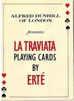 """""""La Traviata"""" playing cards designed by Erté"""