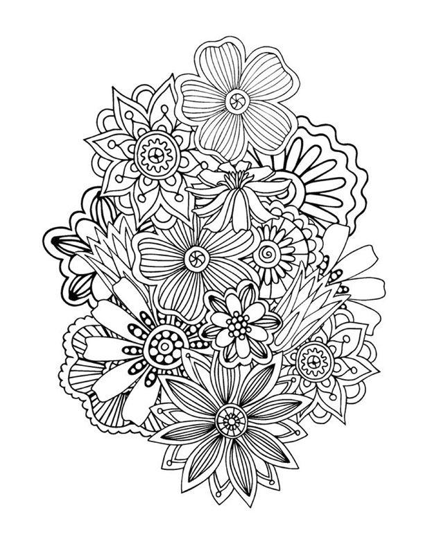 Coloriage : Abstrait floral 1 Zen pour Adultes   Coloriage ...