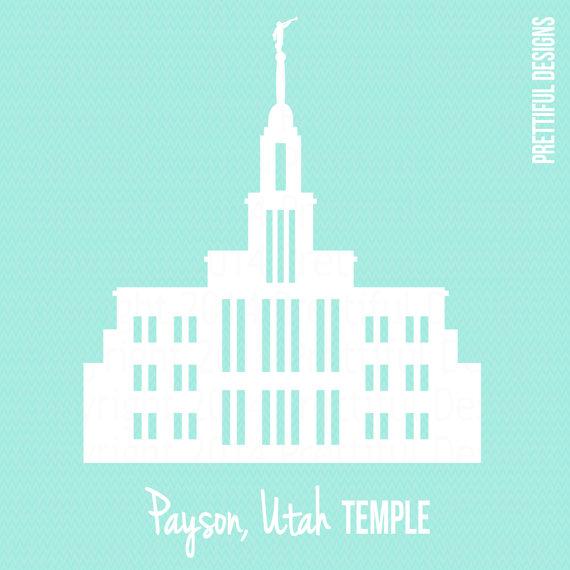 Payson Temple Utah LDS Mormon Clip Art png eps svg Vector | Utah ...