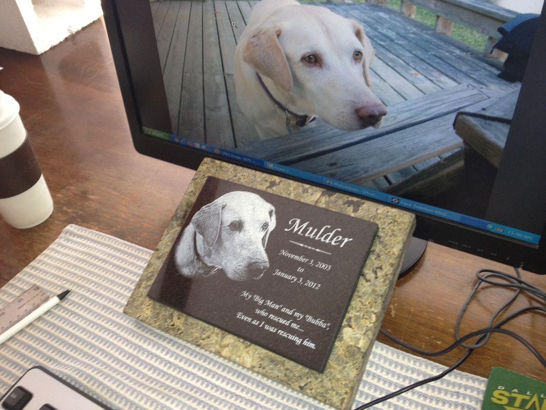custom dog memorial marker for the garden ~ by www StoneArtUSA com