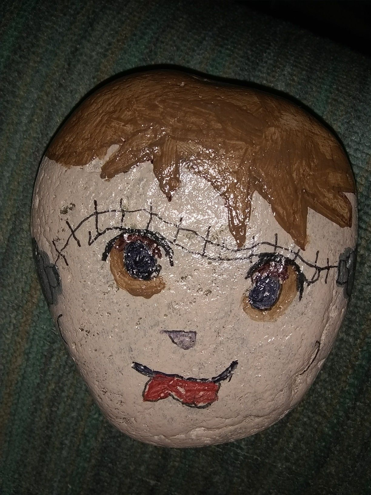 My grandsons mask rock