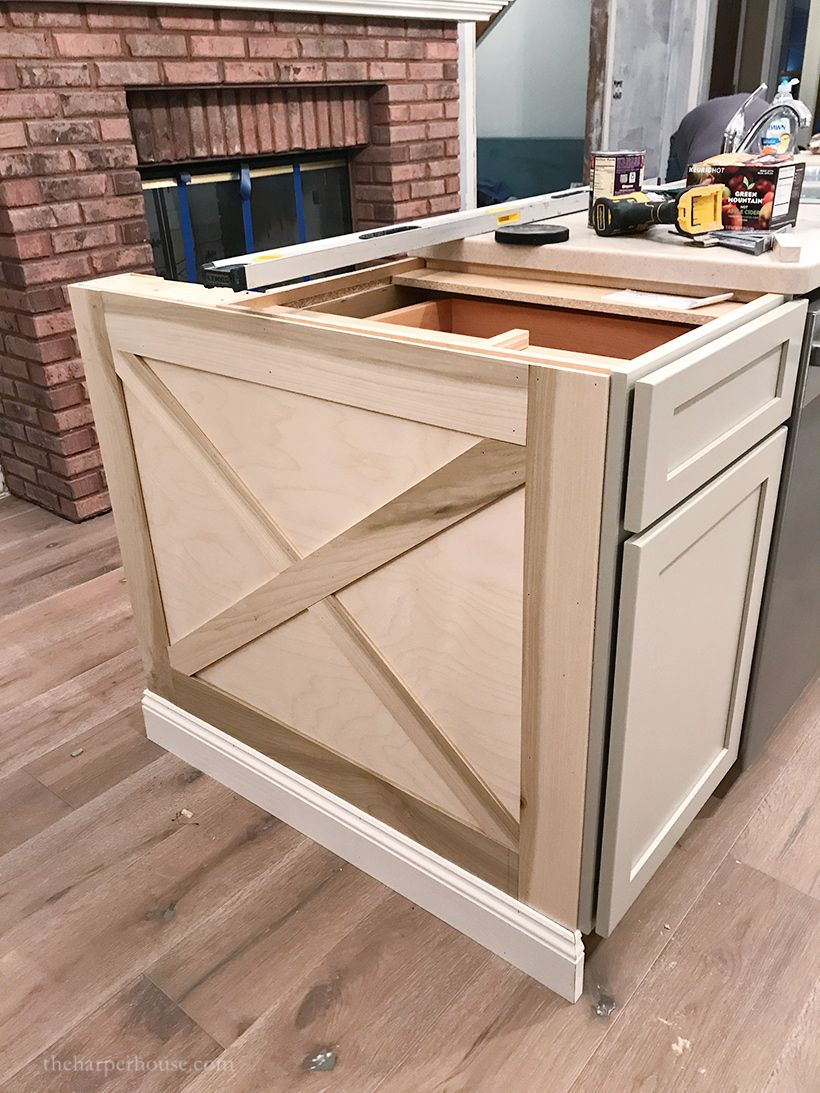 Kitchen Island Trim and Lights (With images) Diy kitchen