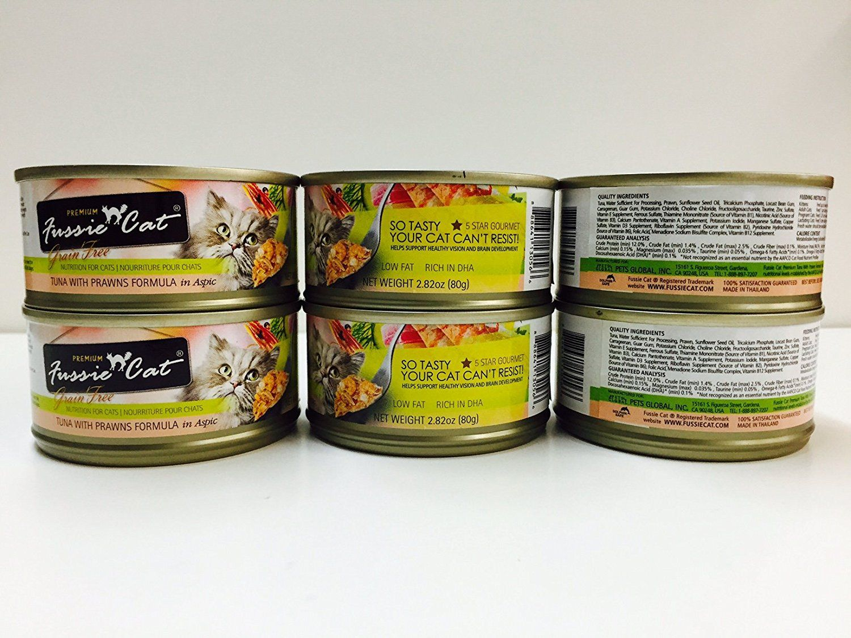 Premium Fussie Cat Canned Food, Tuna with Prawns Formula