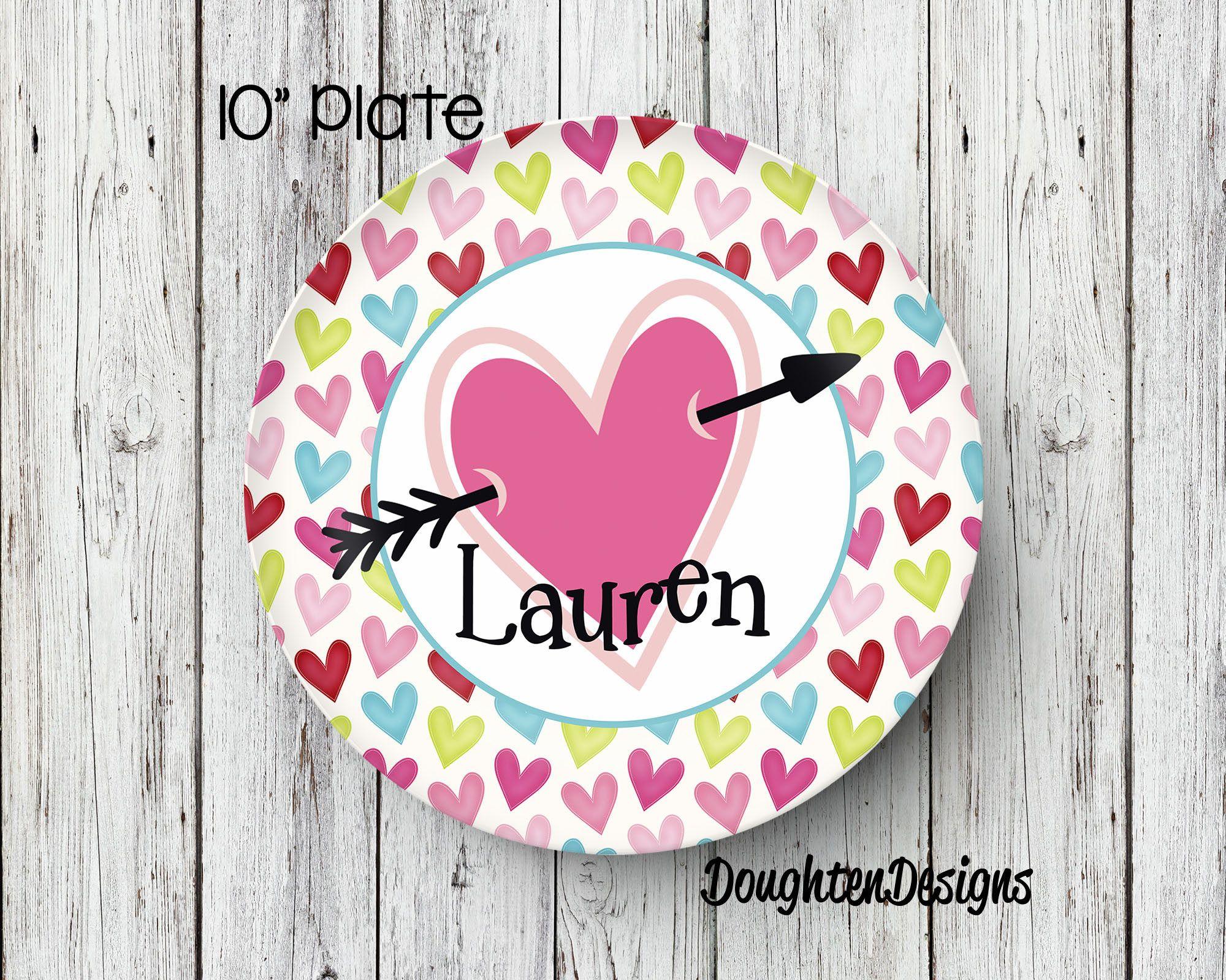 Valentineu0027s Plate Personalized Melamine Plate Valentineu0027s Day Plate Personalized Valentine Plate Personalized  sc 1 st  Pinterest & Valentineu0027s Plate Personalized Melamine Plate Valentineu0027s Day ...