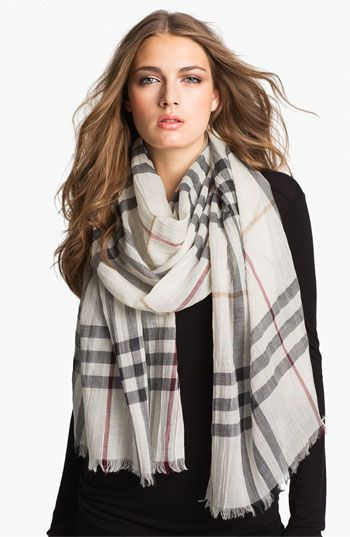 Burberry Giant Check Print Scarf available at #Nordstrom