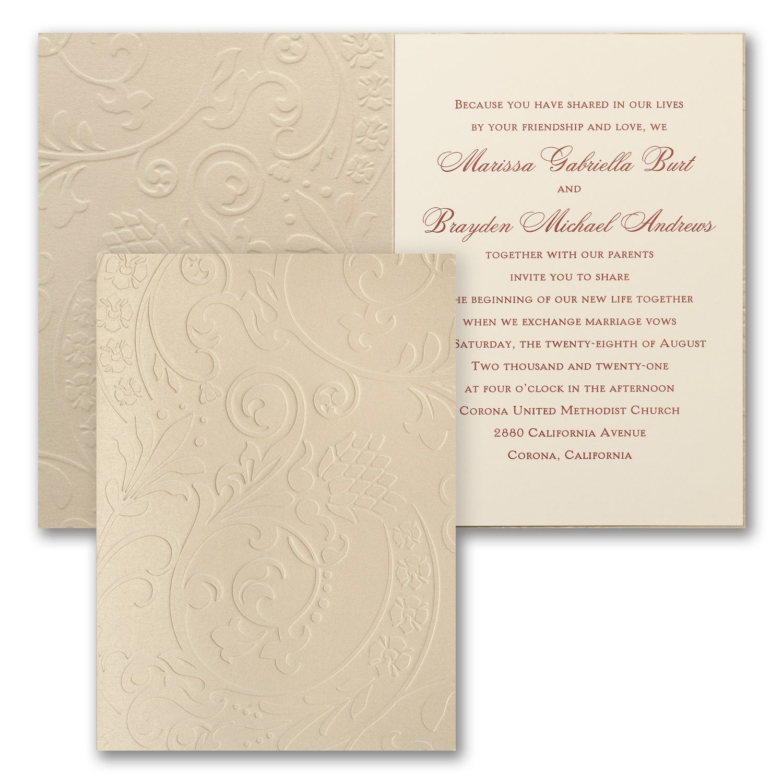 Garden Flourish - Invitation | 40% OFF Carlson Craft Wedding ...