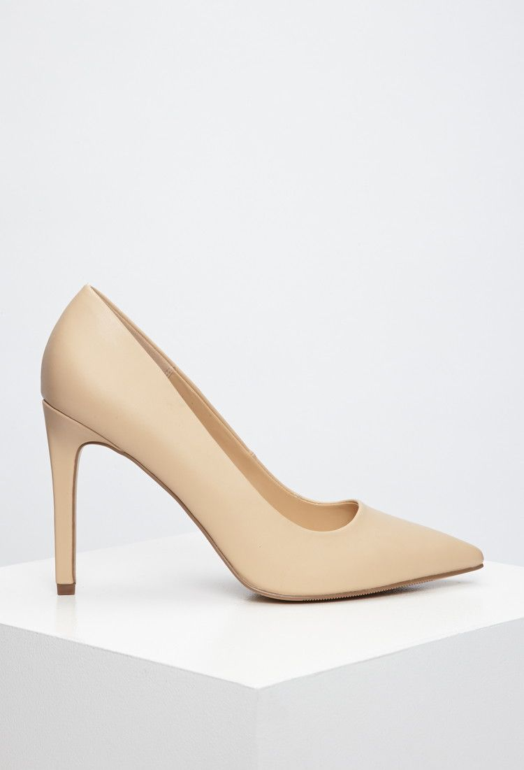Faux Leather Pointed Pumps | Forever 21 - 2000172082