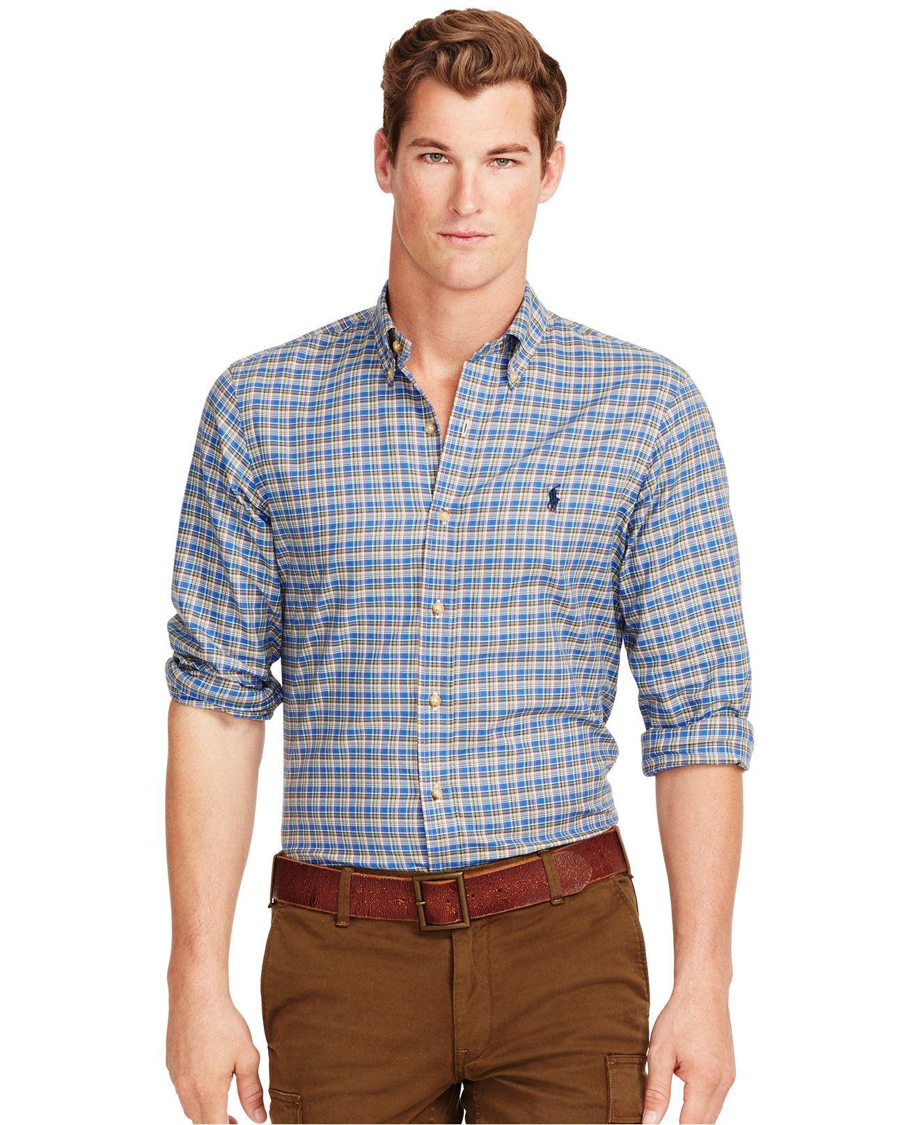 54361347d Polo Ralph Lauren Plaid Twill Shirt - Casual Button-Down Shirts - Men -  Macy s