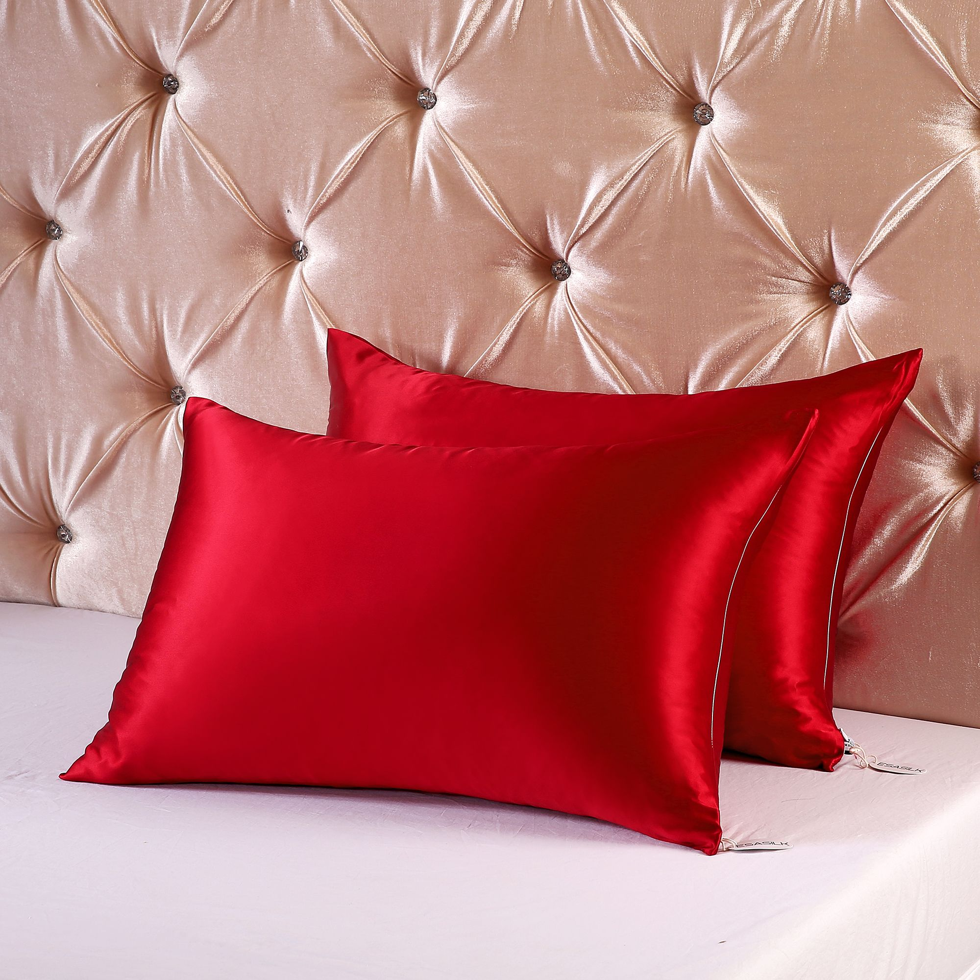 Silk Vs Satin Pillowcase Awesome 19Mm Queen Size Black Silk Pillowcase With Zipper  Pillow Cases Inspiration