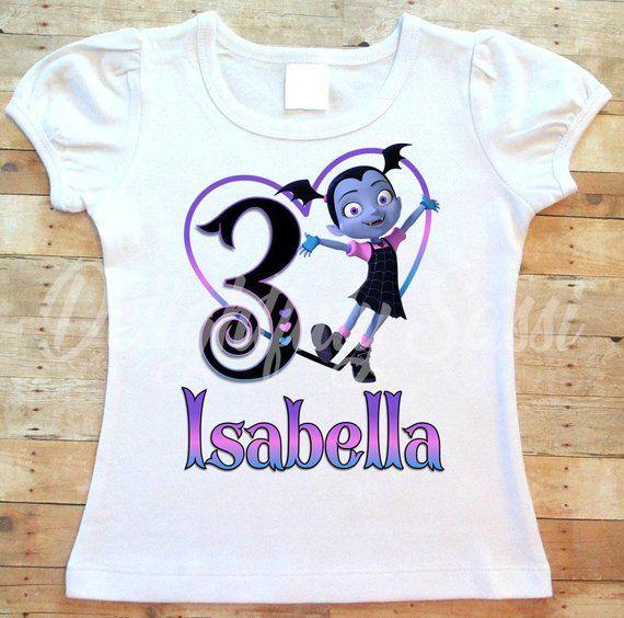 edb01f53d Vampirina Birthday Shirt, Vampirina Shirt, Personalized Birthday Shirt, Vampirina  Birthday, Girls Sh