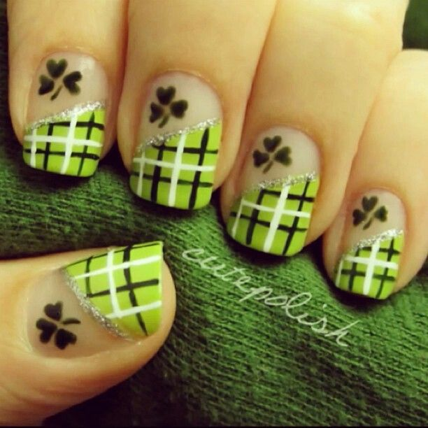St. Patty\'s Day inspired nail art | Nails | Pinterest