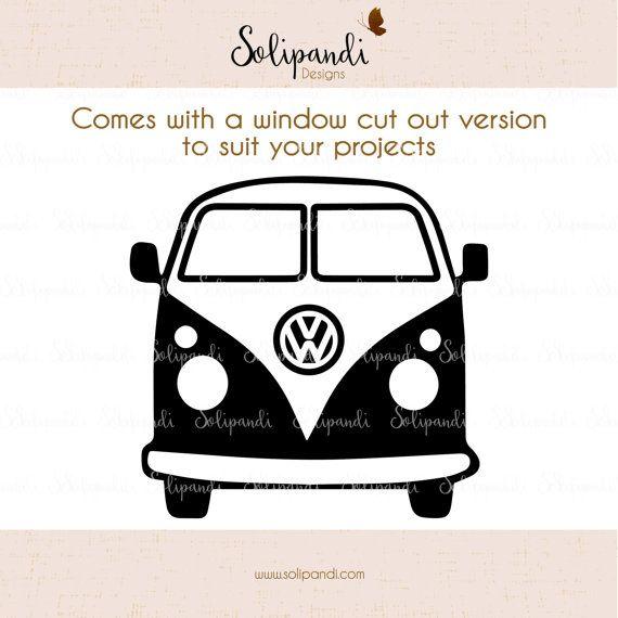 8272a66442fe1 VW Camper Van // Minibus // SVG and DXF Cut Files - for Cricut ...