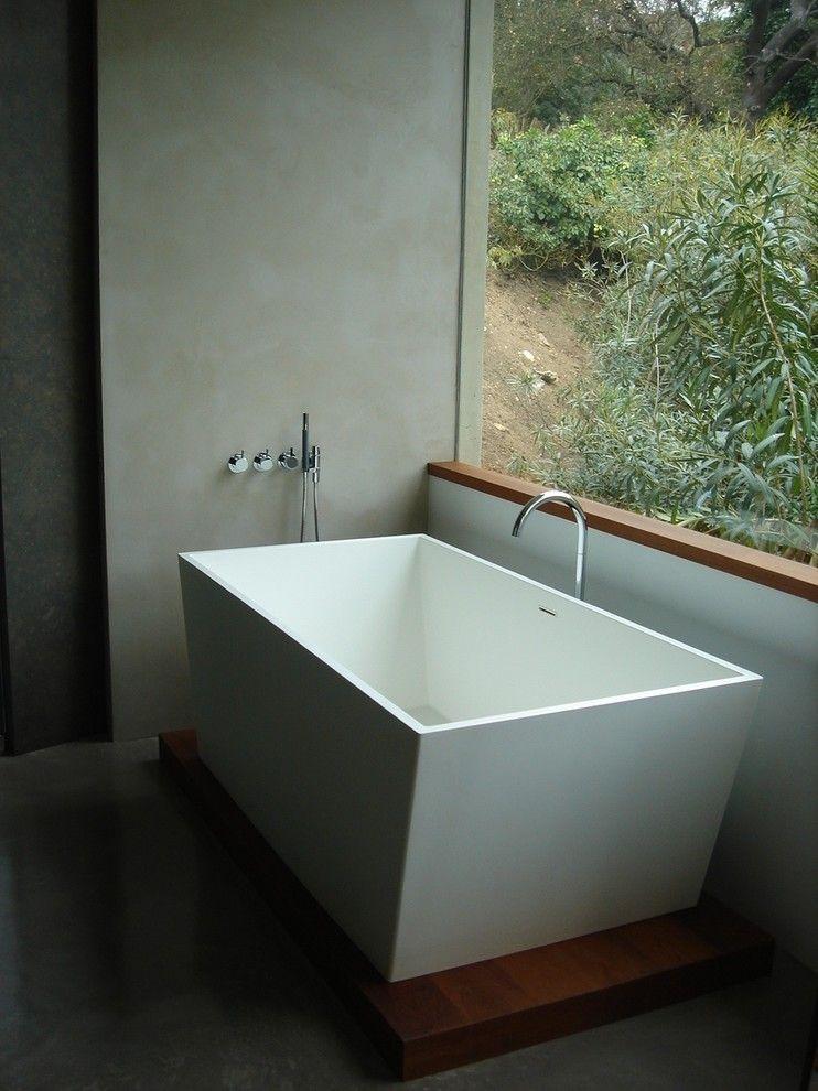 minimal modern bath neutral colors window sill   window trim ...