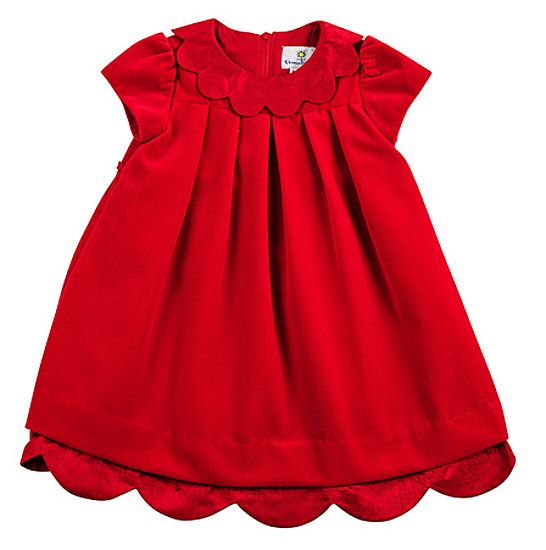Eiseman Infant Baby Girls Christmas Red Velvet Dress with Flowers ...