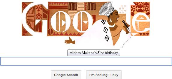 Miriam Makeba (lahir di Kota Prospek, Johannesburg, Afrika