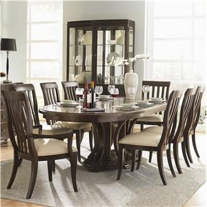 Westwood Oval Double Pedestal Dining Table With Leaves By Bernhardt At Baer S Furniture Dining Room Nook Dining Table With Leaf Double Pedestal Dining Table