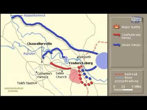 BATTL OF CHANCELLORSVILLE ANIMATION ON A MAP ANIMATED MAPS OF THE - animated maps