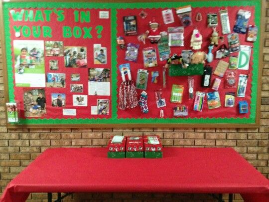 Operation Christmas Child Shoebox Display.Occ Display For Briar Hill Baptist Church In Florence Ms