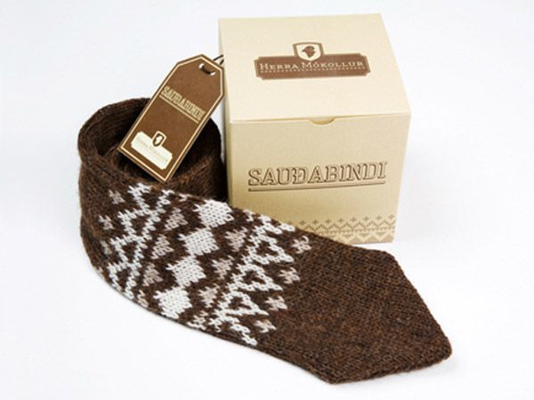 The Icelandic version of a silk tie? The tie is designed by Mókollur and made out of wool.