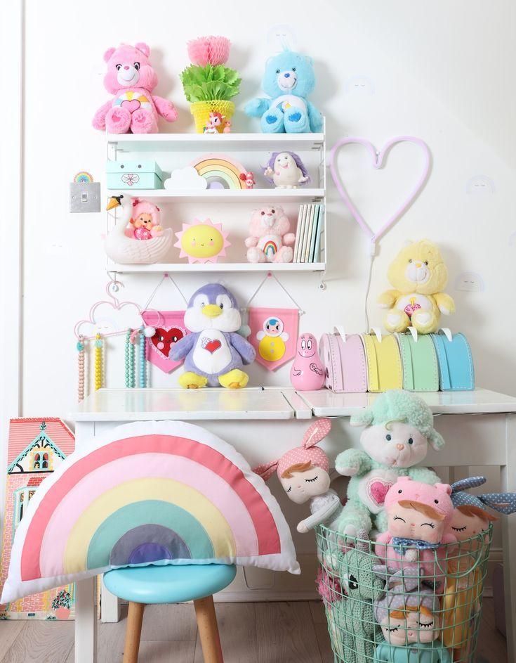 Uberkid Pastel Rainbow Kids Firls Room