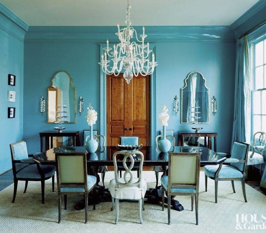 Budget Friendly Living Dining Room Combo Turquoise Dining Room