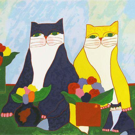 Pinturas De Aldemir Martins Arte Com Gatos Obras De Aldemir