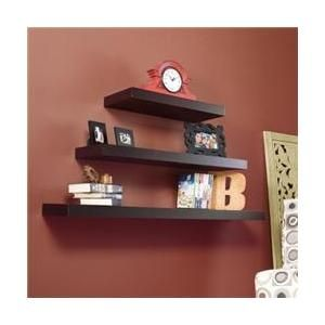 Holly Martin Cadence Floating Shelf 24 In Chocolate Walmart Com Ikea Floating Shelves Floating Shelves Wall Shelf Decor