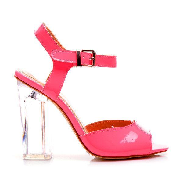 Lakierowane Sandaly Na Przezroczystym Obcasie 99948co S2 108p Odcienie Rozu Czasnabuty Pl Buty I Torebki Shoes Heels Fashion