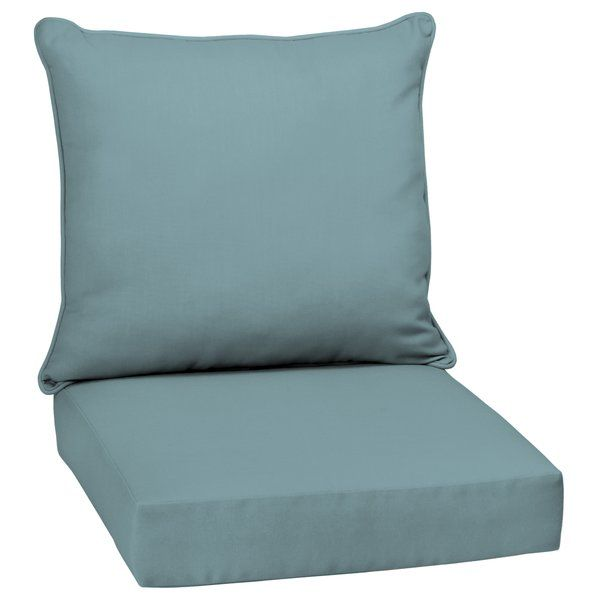 Adelia Texture Outdoor Seat Back Cushion Outdoor Deep Seat Cushions Deep Seating Outdoor Lounge Chair Cushions