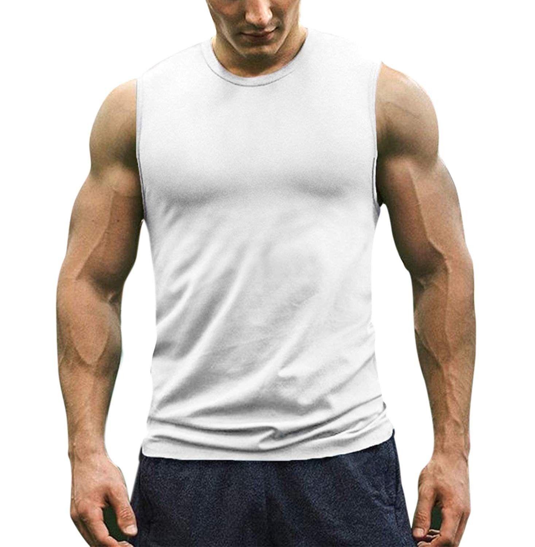 Summer Men Gym Muscle Sleeveless Shirt Tank Top Bodybuilding Sport Fitness Vest