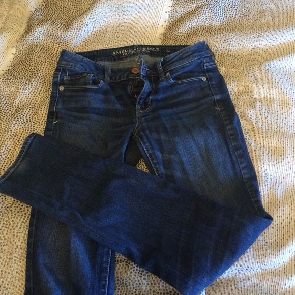 Dark blue skinny jeans American eagle blue jeans, like new American Eagle Outfitters Jeans Skinny