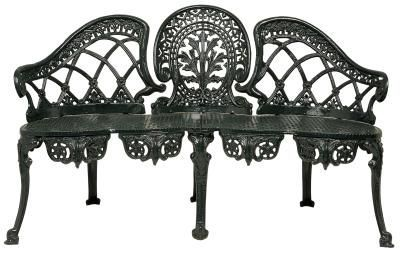 Black Victorian Cast Iron Outdoor Furniture Perfect For A