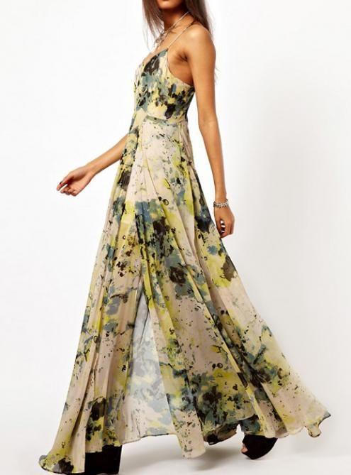 Printed Harness Dress