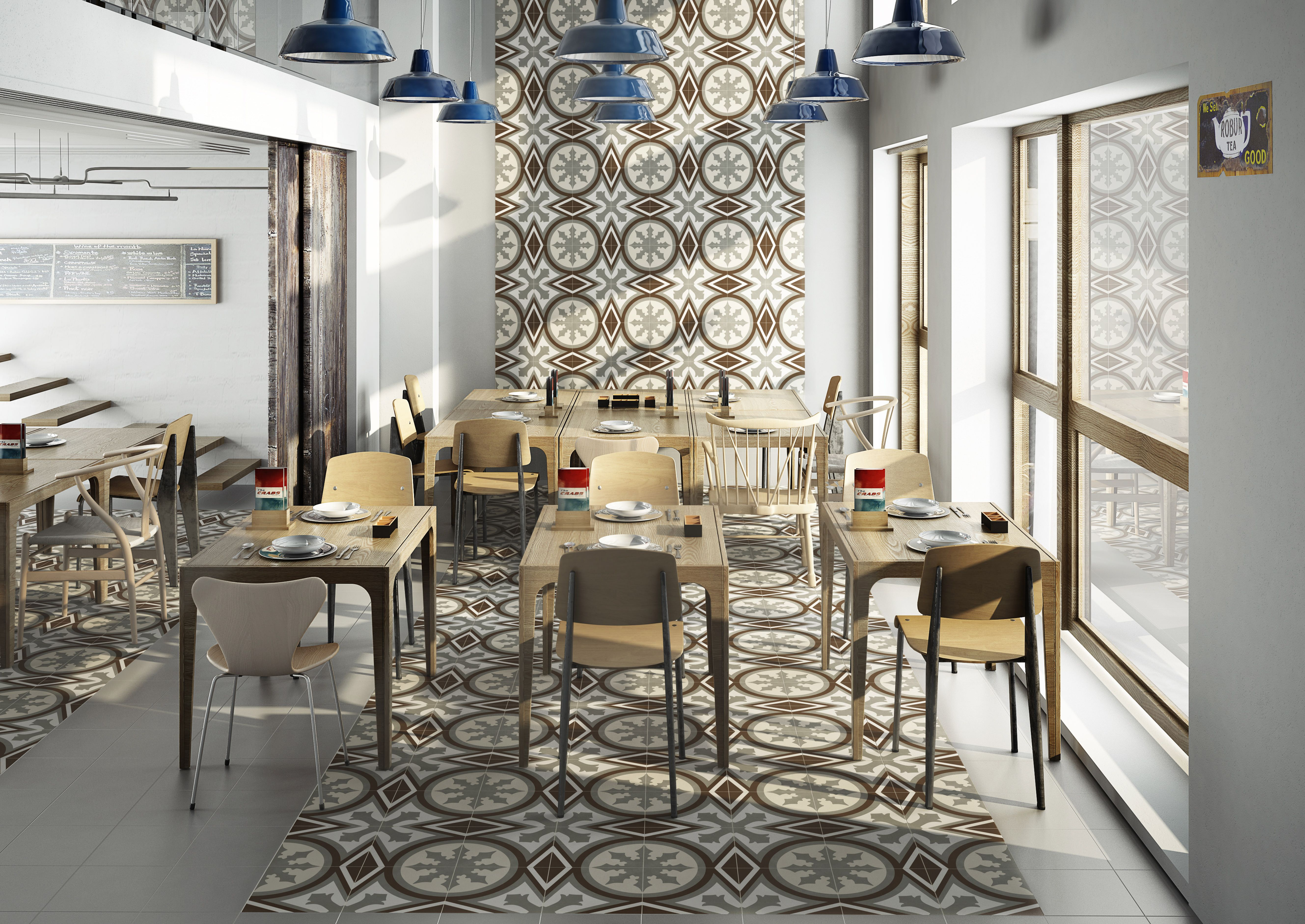 Vanguard rise calgary cnv pinterest porcelain tile vanguard rise tile series from aparici a tile of spain company reaches towards the sky as an accent wall in this restaurant space dailygadgetfo Images