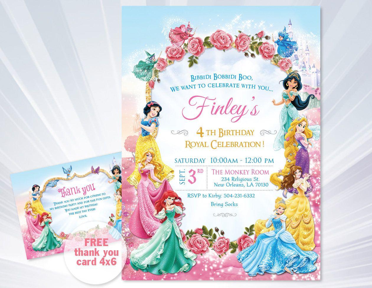Princess Invitations Princess Birthday Party Invitations - Invitation birthday party girl
