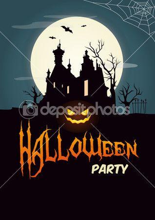 Cartel De Fiesta De Halloween Feliz Carteles De Halloween Fiesta De Halloween Feliz Halloween