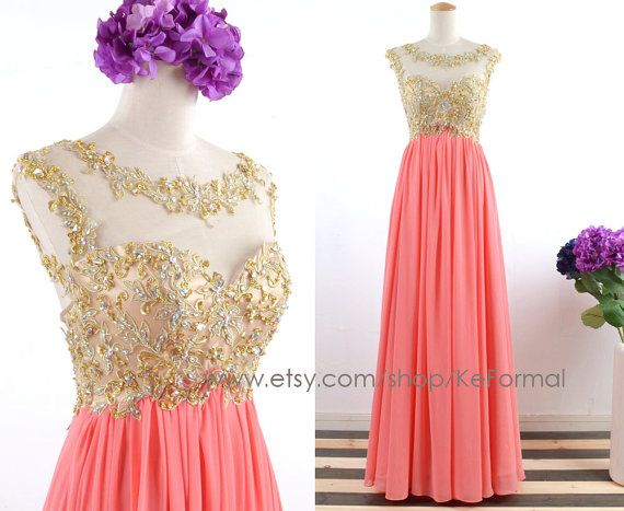 Long Coral Dresses for Weddings
