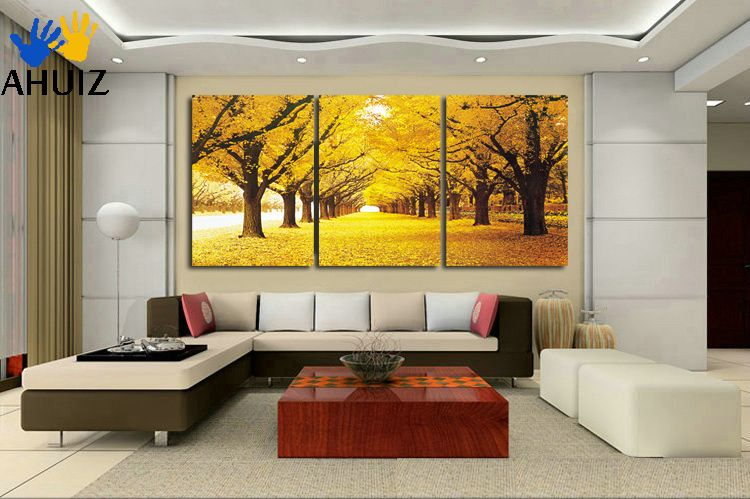 $15.98 - Cool Modern landscape 3 pieces paintings on canvas wall art ...