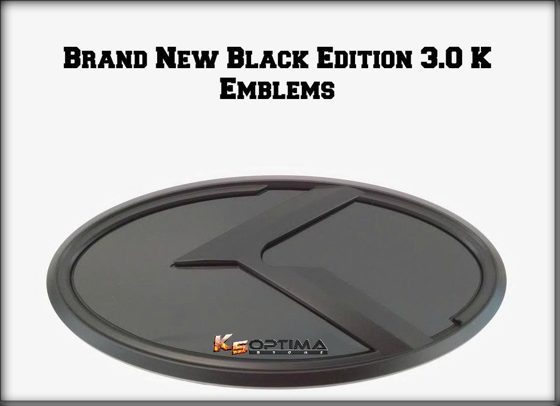 New Kia 3 0 K Logo Emblem Sets Black Edition Black Edition Emblem Logo Kia Logo