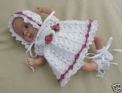 Hand Knitted Dolls Clothes To Fit 65 Ooak Sculpt Baby Dolls