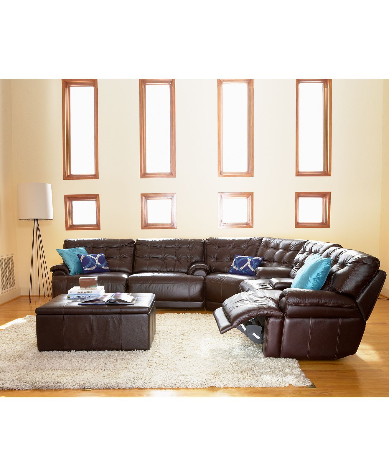 Dylan Leather Living Room Furniture Reclining Sets and Pieces