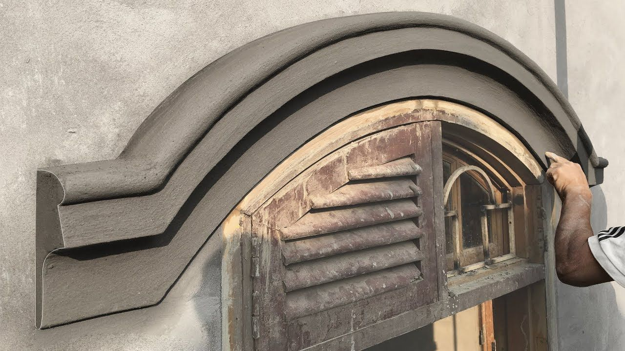 Nice Curve New Tool Amazing Construction Skills Sand And Cement Rendering Construction Luxury Exterior Design House Design Pictures Front Wall Design