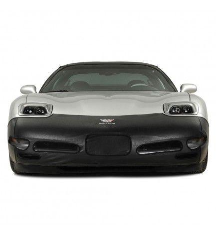 1997 2004 C5 Corvette Front Bumper Mask W C5 Crossed Flags Black Vinyl Corvette Car Parts And Accessories Black Vinyl