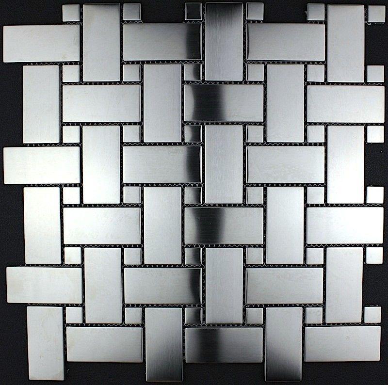azulejo mosaico acero inoxidable cocina y baño mi-son15,40 \u20aclongitud