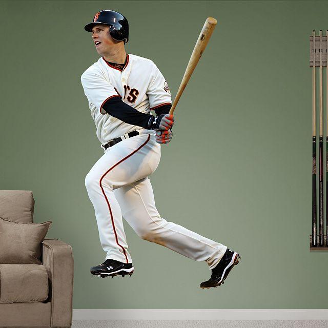 Buster Posey REAL.BIG. Fathead Wall Graphic | San Francisco Giants Wall Decal | Sports Decor | Baseball Bedroom/Man Cave/Nursery
