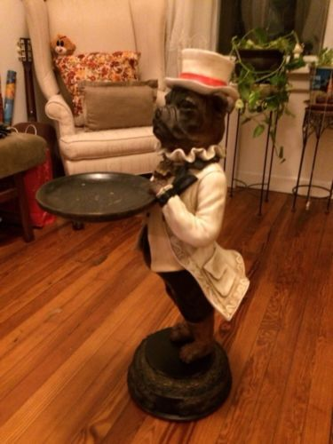Dog Butler Statue