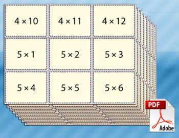 multiplication flash cards | dicas de multiplicação | Pinterest ...