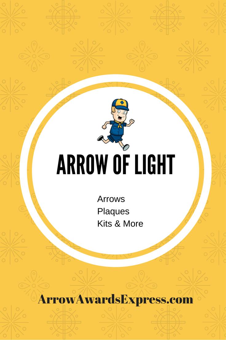 Arrow of Light Award arrows, plaques, kits, & more, High
