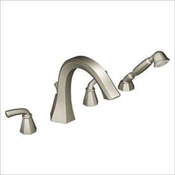 Felicity Double Handle Deck Mount Roman Tub Faucet Trim with
